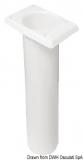 Angelrutenhalter aus UV-beständigem Polypropylen quadratisch 230mm weiß
