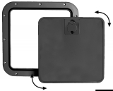 Inspektionsluken mit abnehmbarer Frontabdeckung, schwarz 305 x 355