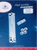 Anoden Set Suzuki Motor-Typ 90 bis 140 PS Aluminium