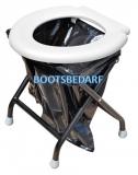 Praktische Klapp Toilette Klapp WC für unterwegs in der Farbe weiß