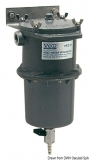 Zentrifugaler Vorfilter mit Wasser-Treibstoffabscheider Diesel oder Benzin 150 Mikron.