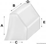 Abdeckung für Steuersäulen auf offenen Motorbooten  Modell klein