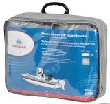 Persenning für offene Boote mit zentralem Steuerstand oder Brücke mit Windschutzscheibe 700/780