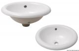 Weiße Keramikwaschbecken, oval 445x380x190mm
