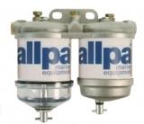 Doppelter Dieselfilter mit Wasserseparator bis Max 3500cc Kap 50L/Stunde 1 x Klarsichtbehälter