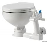 Manuelles WC Modell space saver Toilettenbrille Kunststoff weiß