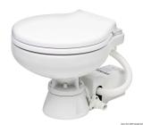 Elektrische Bordtoilette Modell raumsparend Toilettenbrille weißer Kunststoff