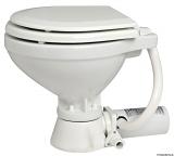 Elektrische Bordtoilette Modell kompakt Toilettenbrille Holz, weiß lackiert
