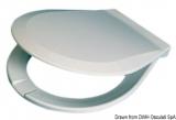 Ersatztoilettenbrillen aus weiß lackiertem Holz