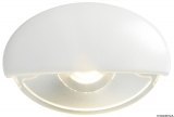 BATSYSTEM LED-Einbau-Orientierungsleuchte Steeplight  Farbe Gehäuse weiß Farbe Licht blau