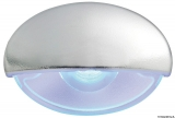 BATSYSTEM LED-Einbau-Orientierungsleuchte Steeplight  Farbe Gehäuse verchromt Farbe Licht blau