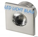 LED-Deckenleuchten, Unterputz  Farbe LED blau viereckig 1W