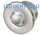 LED-Deckenleuchten, Unterputz  Farbe LED blau rund 1W
