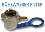 Kompakte Kühlwasserfilter 1/2 Zoll, 2.250 Liter pro Stunde, Höhe 108mm