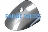 RADIAL Stoßkanten Profil Endstück in der Farbe weiss  für 65mm Profil