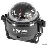 Finder  Aufbaukompass schwarz Version mit Bügel Kompassrose 50mm