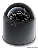 Riviera Kompass mit Sockel 5 Zoll schwarz für Steuersäulen auf Segelbooten, mit niedrigem Sonnenschutz