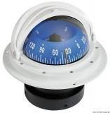 Riviera Kompass 4 Zoll Einbaumodell Rose mit Frontsicht Hochgeschwindigkeit weiß blau