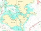 Seekarten Tischset südlich Seeland