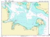 Seekarten Tischset Kieler Bucht