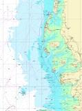 Seekarten Tischset Helgoland Römö