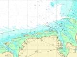 Seekarten Tischset Borkum Helgoland
