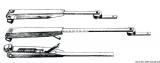 VA-Stahl Teleskop-Wischarm, verstellbar von 280 bis 360mm