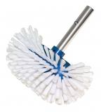 Decksbürste mit Standard Schnellverschluss rund medium mit weißen Borsten