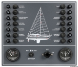Schaltpaneel für Segelboot 15A Elektrische Schalttafel mit 14 Stromkreisen