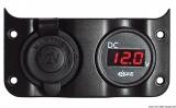 Voltmeter 3/30 V + 12 V Steckdose für Tafel 14.104.01/02/03/04/05