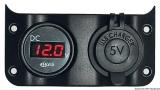 Voltmeter 3/30 V + 2 x USB Steckdose für Tafel 14.104.01/02/03/04/05
