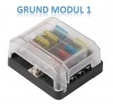 Moduläre Box für Sicherungen Grundmodul 1 (für 6 Sicherung)