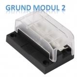Moduläre Box für Sicherungen Grundmodul 2 (Minussteckblock)