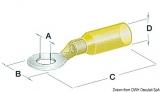 Lochkabelschuh vorisoliert 5,3 mm gelb