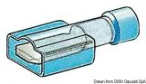 Flachstecker Faston für Kabel 1 bis 2,5mm Zungenbreite 6,3mm Vollständig vorisoliert