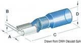 Flachsteckhülsen Faston für Kabel 1,2 bis 2,5mm vorisoliert mit Schrumpfhalterung