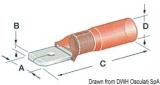 Flachstecker Faston für Kabel 1,2 bis 2,5mm vorisoliert mit Schrumpfhalterung
