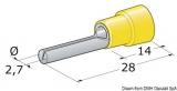 Stiftkabelschuhe von 2,5 bis 6mm