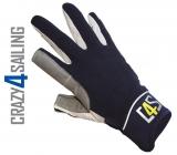 Offshore Segelhandschuhe - 2 Finger geschnitten, navy Größe M
