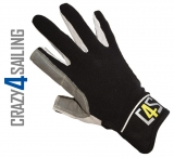 Offshore Segelhandschuhe - 2 Finger geschnitten, schwarz Größe XS