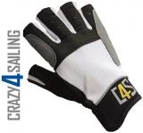 Regatta Segelhandschuhe - 5 Finger geschnitten, weiß Größe XS