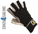 Racing Segelhandschuhe - 5 Finger geschnitten, schwarz Größe L