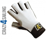 Racing Segelhandschuhe - 5 Finger geschnitten, weiß Größe L