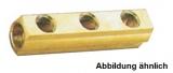 3 Wege Wasserverteiler Hauptleitung 1 1/4 Zoll, Abgänge 1/2 Zoll