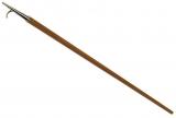 Bootshaken aus Holz L=1800 mm. Lackiertes Holz,  Haken messing-verchromt.