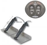 Trimmklappen System elektrisches mit Positionsanzeige Für Boote von 30 - 44Fluß ca. 9-13m
