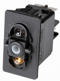Taster 4 polig Glühbirnen weiß 24V 15A Typ (ON)- OFF-(ON)