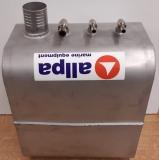NIRO Einbautank 50 Liter senkrecht 700x200x350 mm