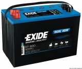 EXIDE Dual-AGM Multi-Purpose Batterie 100Ah Modell EP900