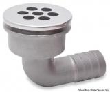 Extra kleiner NIRO-Decksabfluss Oberteil 42mm, Schlauchanschluss 20mm